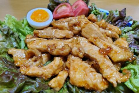 鶏むね肉の甘辛スティック(2021.05.31)